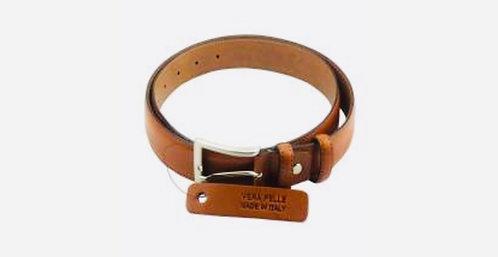 Genuine Men's leather belt: Tan