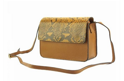 The Iolanda leather cross body-yellow