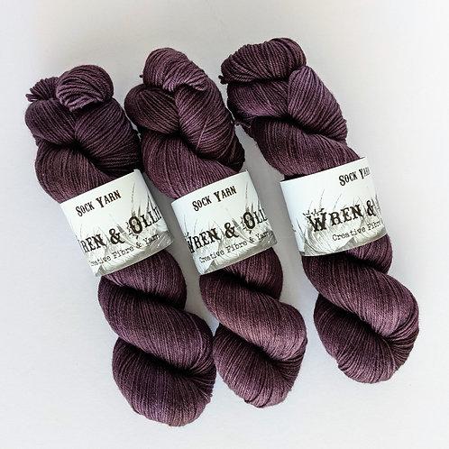 Sock Yarn : Blackcurrant