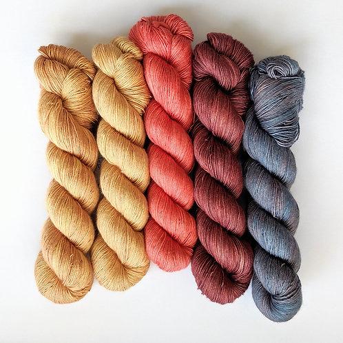 Superwash Merino Silk Singles: Botanical Collection