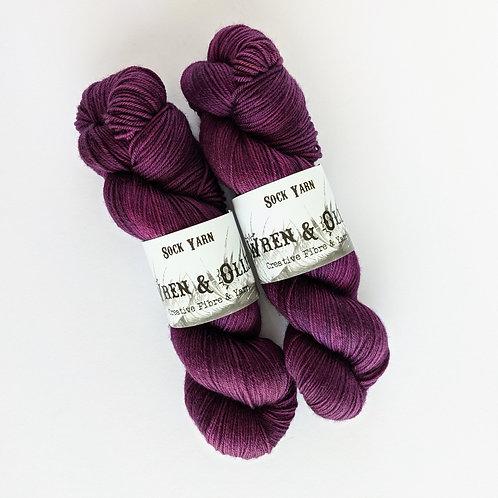 Sock Yarn : Boysenberry