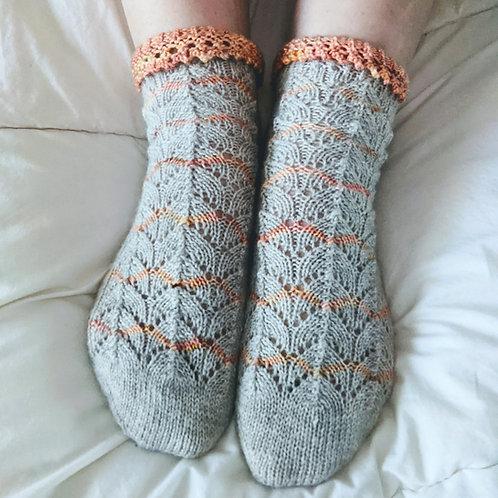 Peaches & Cream Sock Pattern