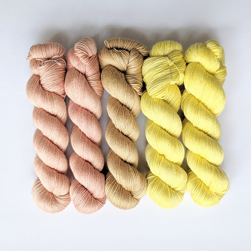 Superwash Merino Bamboo Silk: Botanical Collection