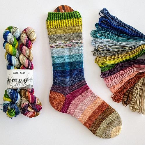 Subdued Rainbow Sock Set
