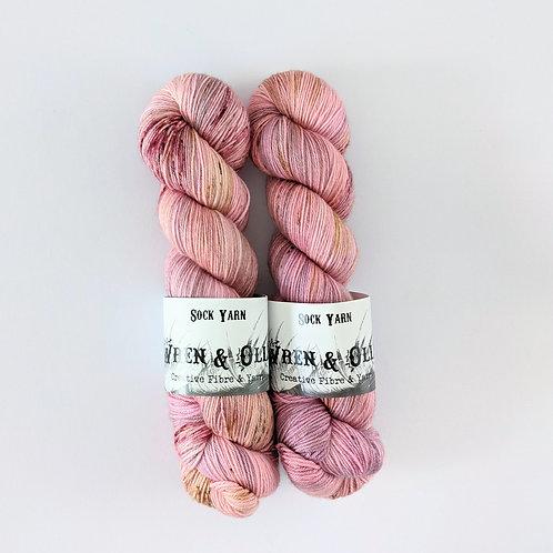 Sock Yarn: OOAK Pink Speckle