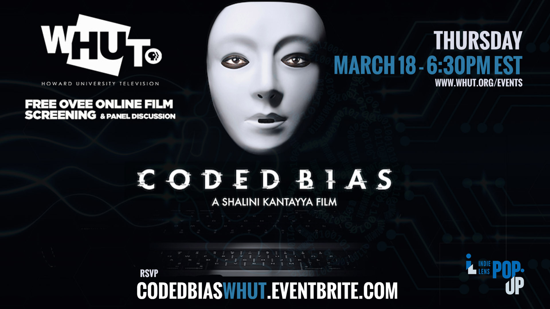 Free Film Screening & Panel Discussion of CODED BIAS