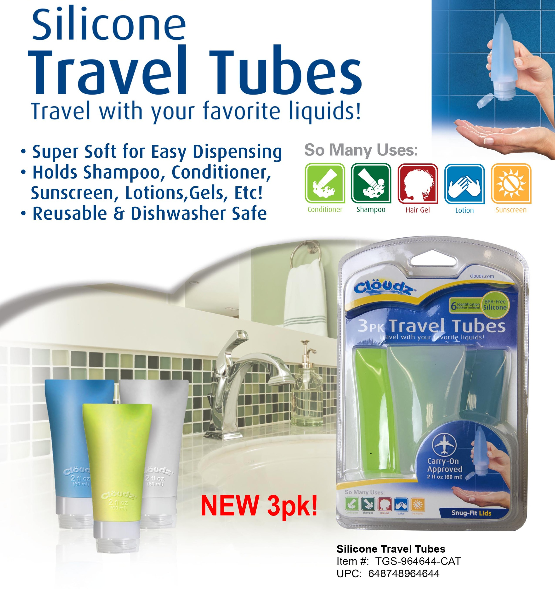 SNI Today - Cloudz 3 Pack Travel Tube Se