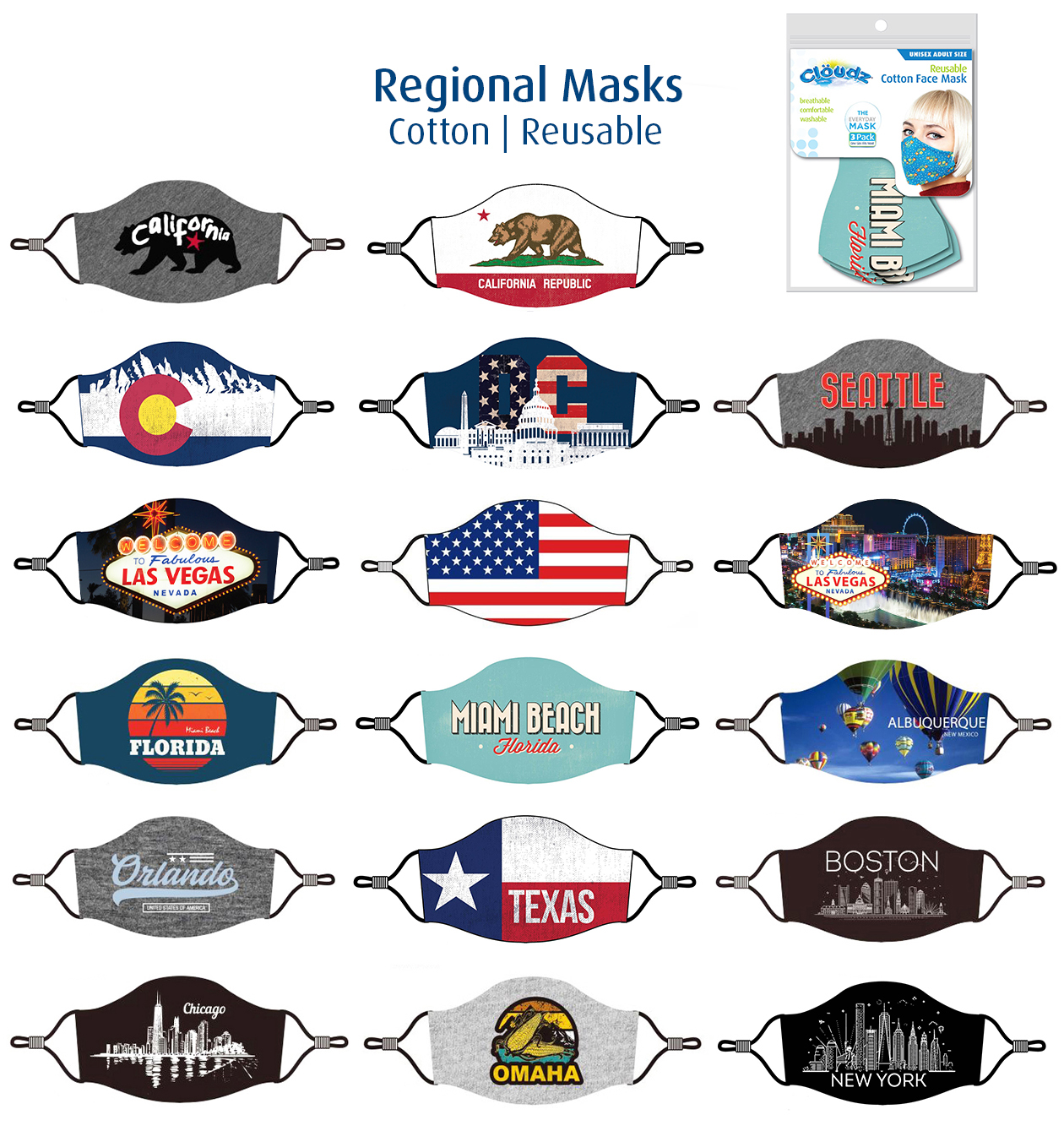 Regional Reusable Cotton Masks-5-29-20-1