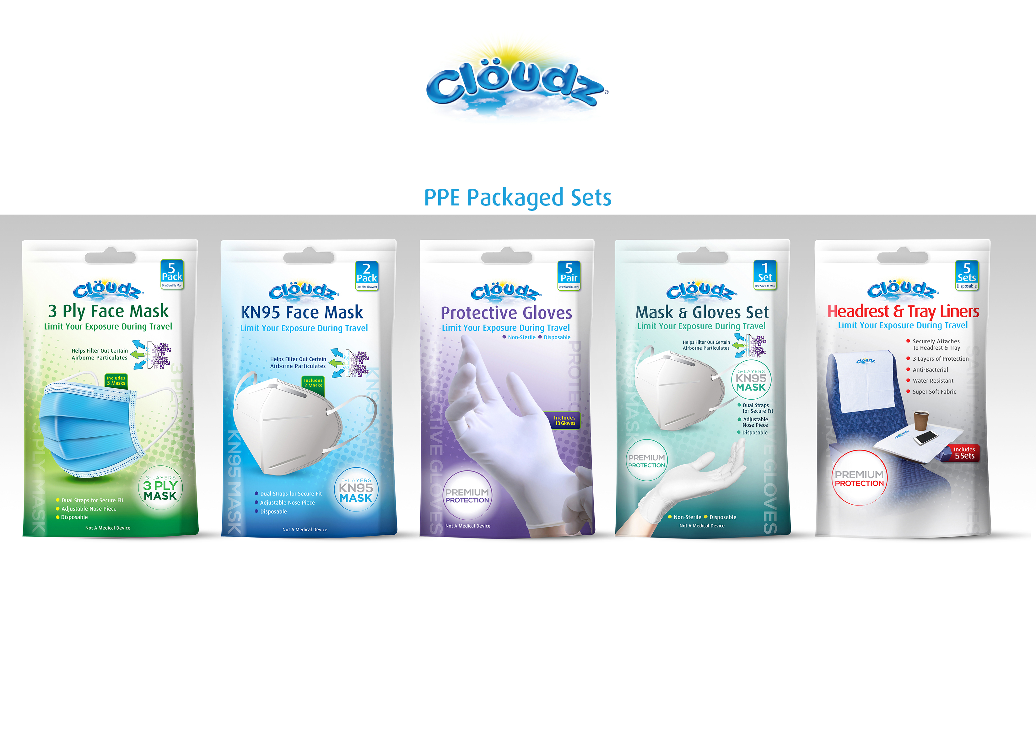 Cloudz PPE Packaged Sets 5-29-20