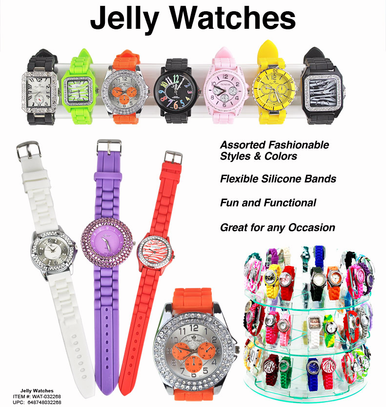 WAT-032268 - Ladies Jelly Watches