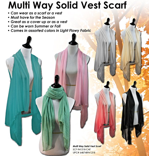 Fashion Vest Scarf