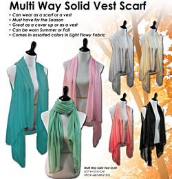 Fashion Vest Scarf