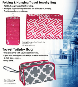 TGS-9397 - Travel Toiletry Bag and Hanging and Folding Jewelry Bag
