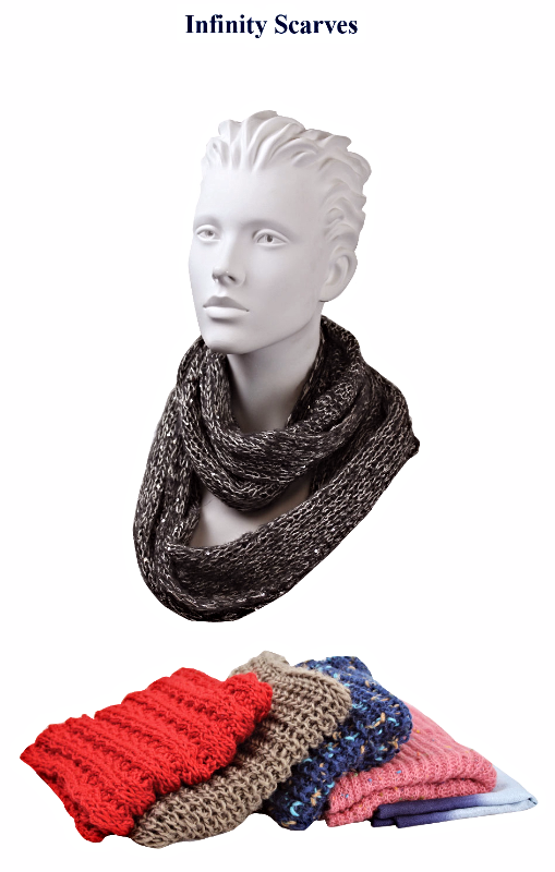 SCF-910719 - Neck Ring Infinity Scarves