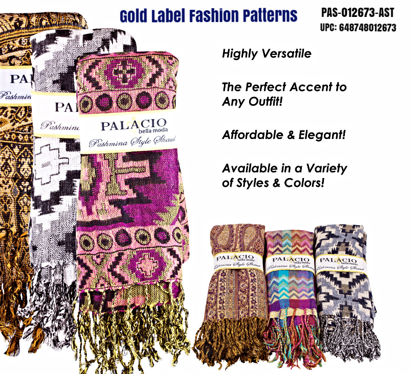 Gold Label Fashion Pattern Pashminas