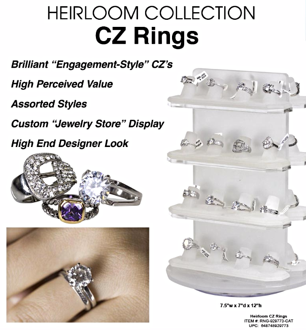 Heirloom CZ Engagement Rings