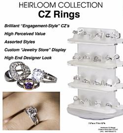 Heirloom CZ Engagement Rings