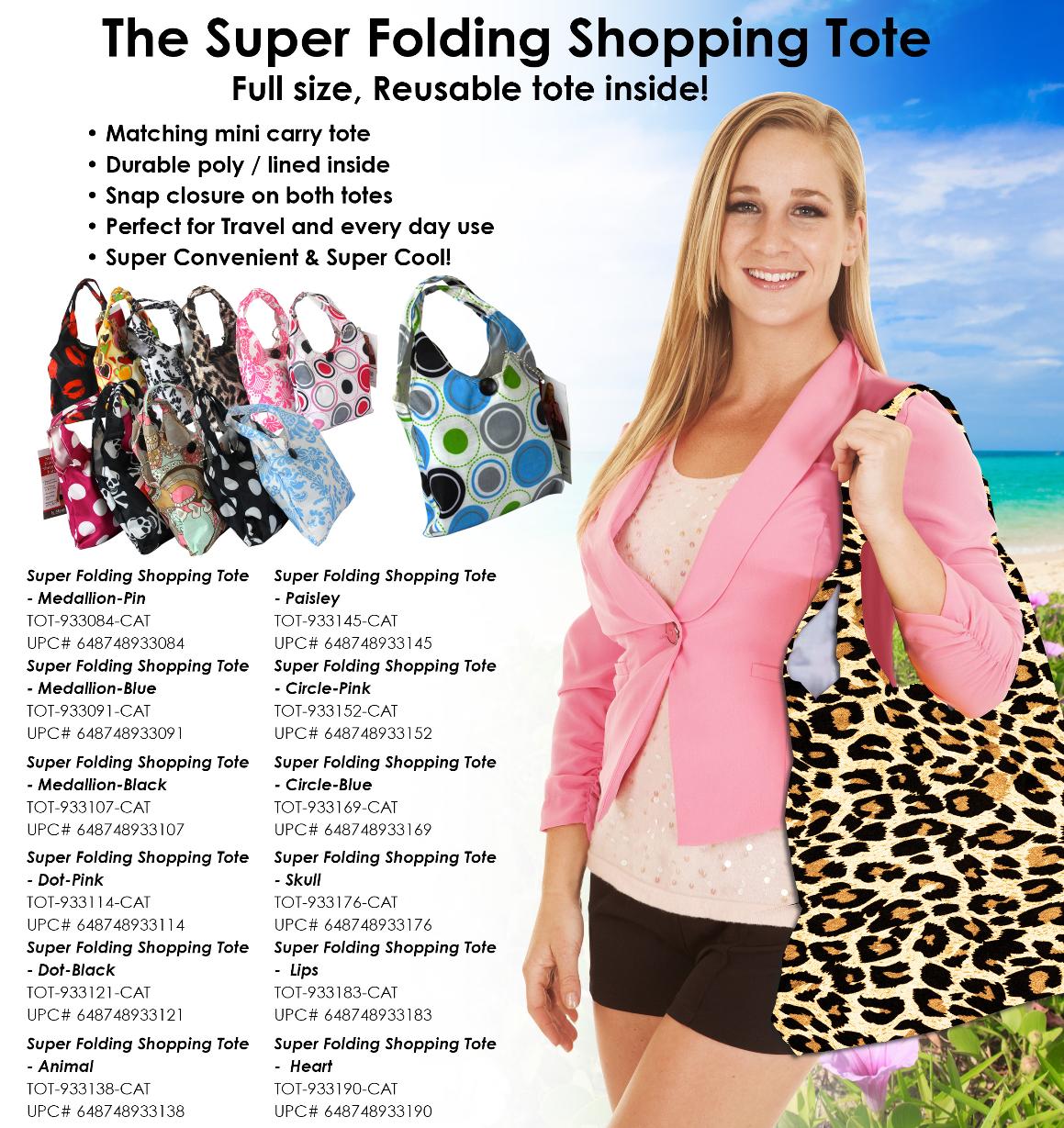 TOT-933 - Super Folding Shopping Tote