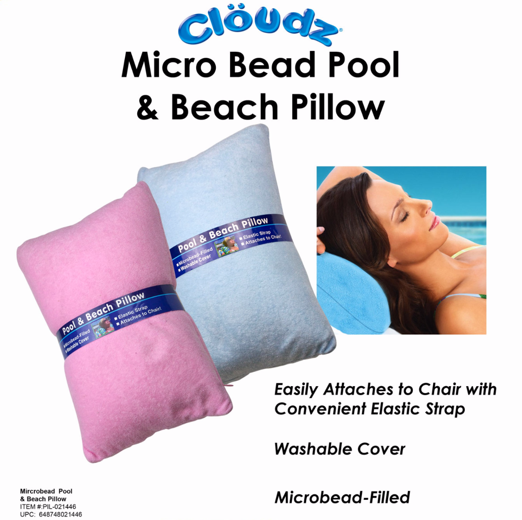 10 PIL-021446 - Cloudz Pool & Beach Microbead Pillow