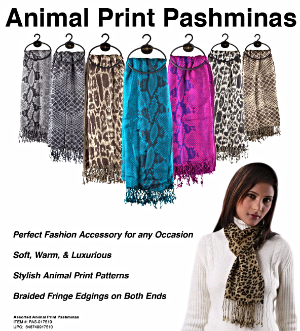 Animal Pattern Pashminas