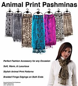 Animal Pattern Pashminas