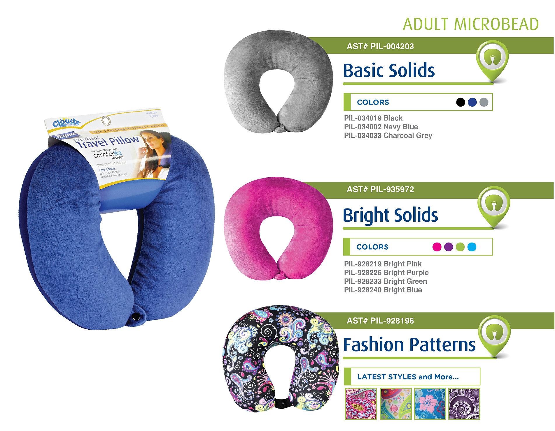 Snitoday Microbead Travel Pillows