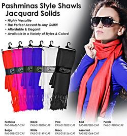 Pashminas - Jacquard Solid Colors