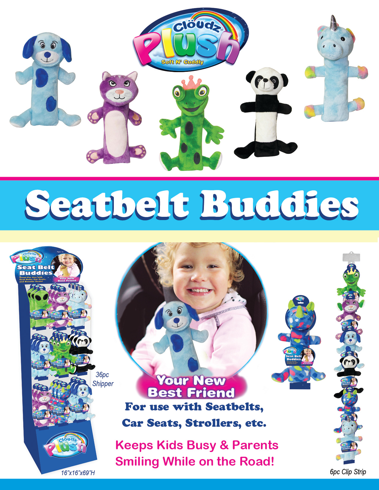 Seatbelt Buddies - 36pc Shipper