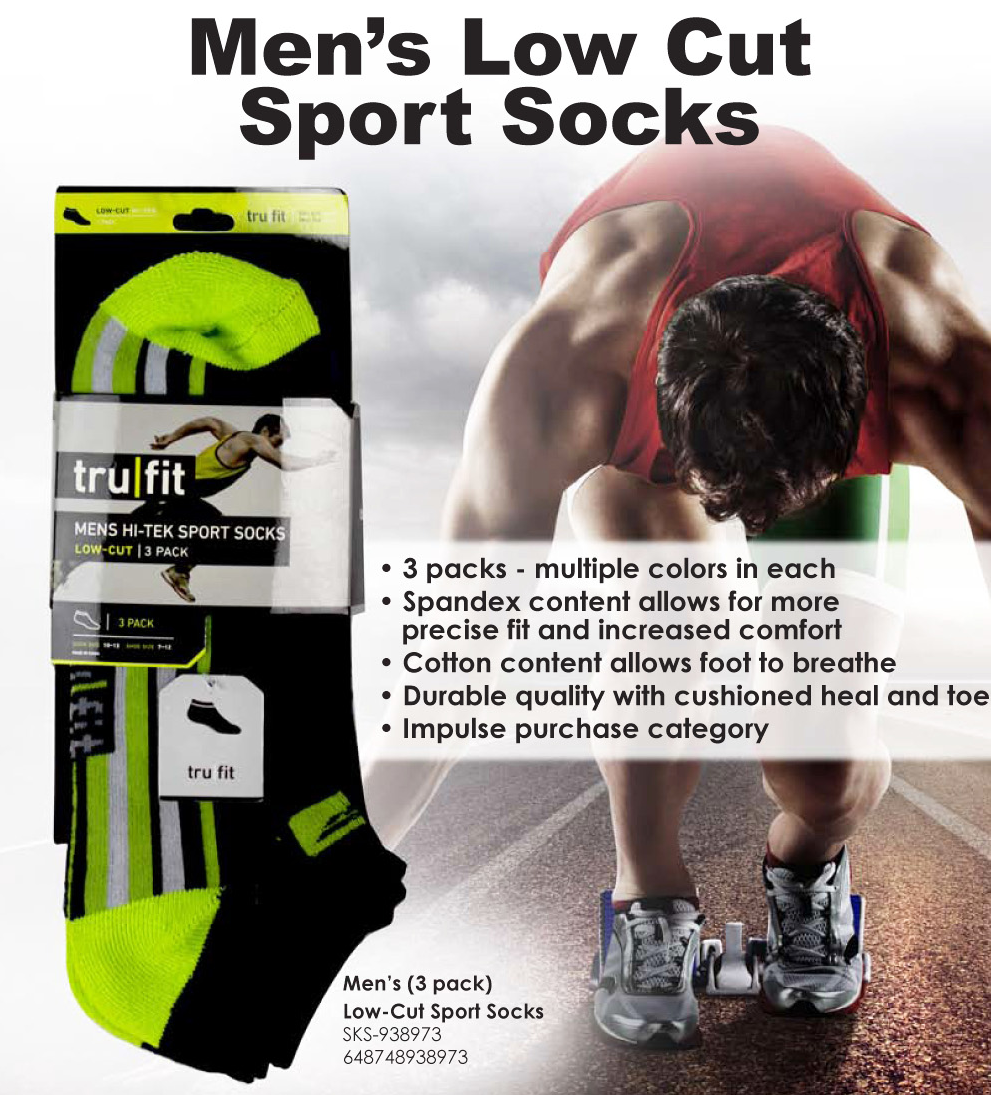 SKS- Men's Low Cut Sport Socks