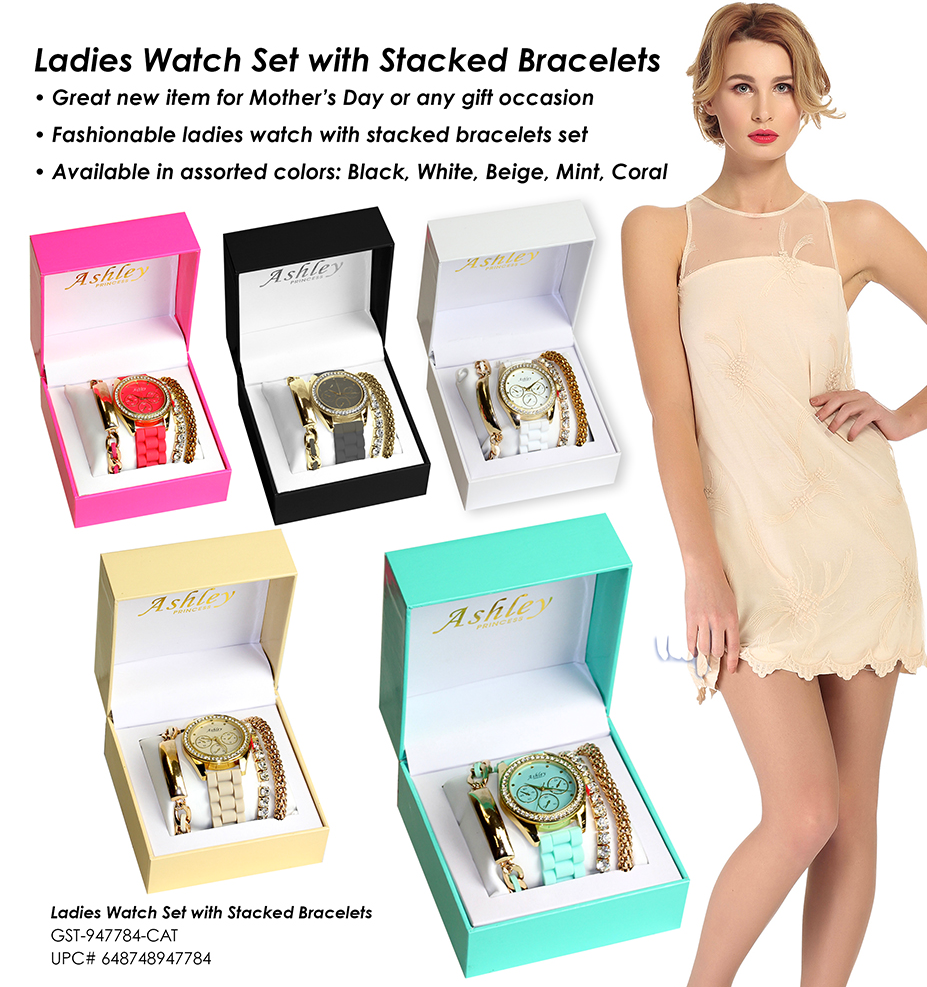 SNI Today - Ladies Watch & Stacked Bracelets Gift Set_edited