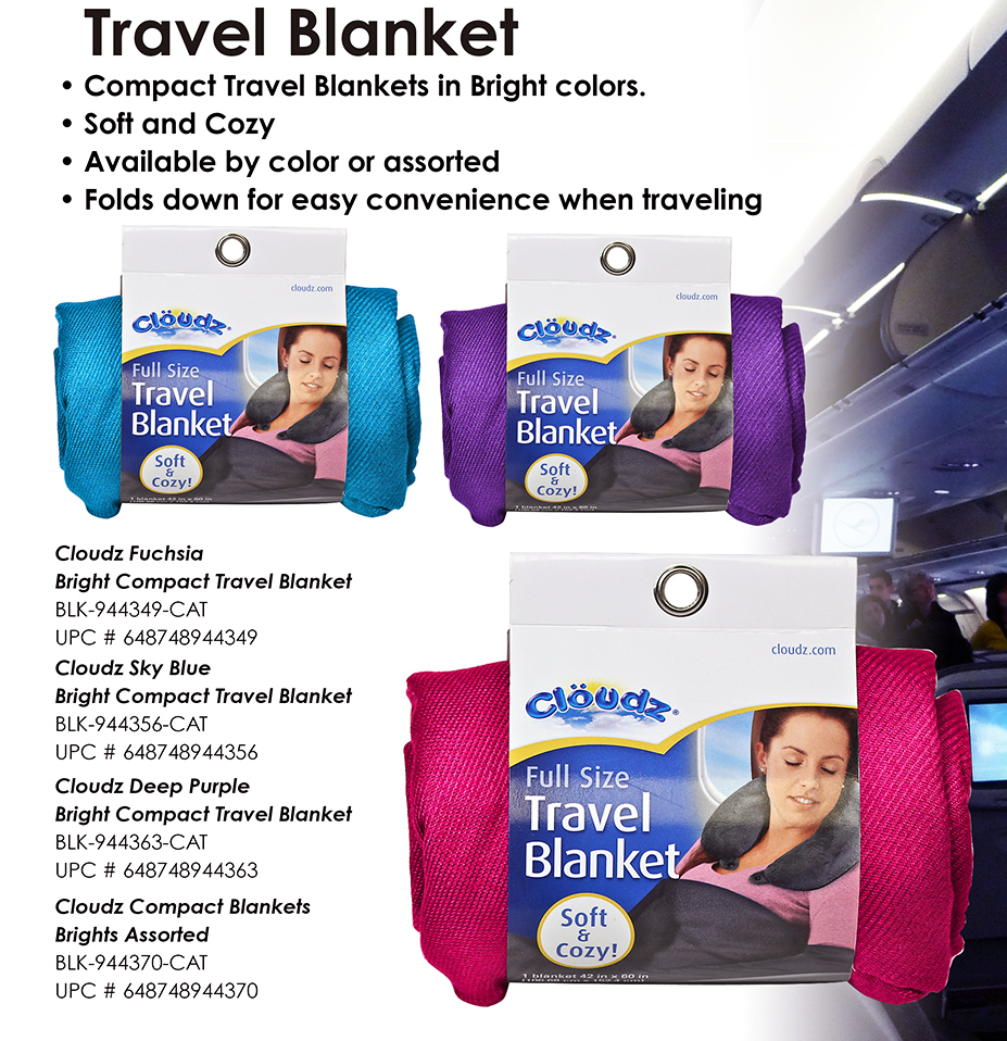 SNI Today - Compact Travel Blanket - Brights