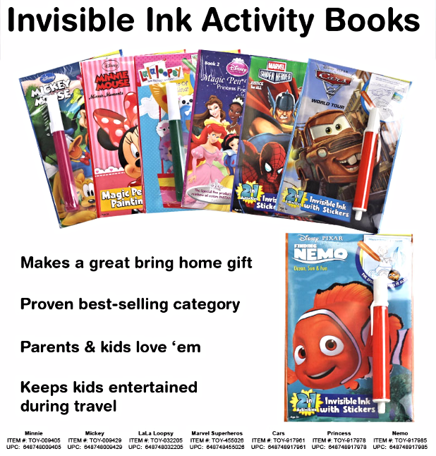 Invisible Ink Activity Books