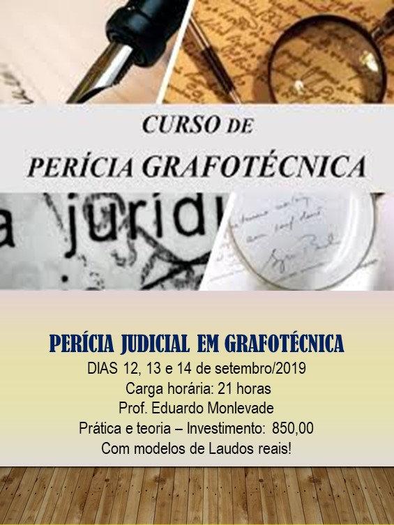 CURSO  PERICIA GRAFOTÉCNICA