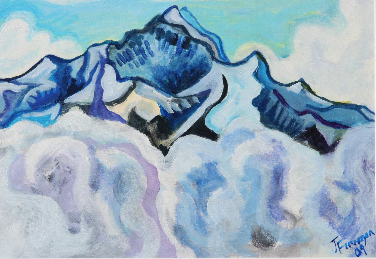 Mountain in blue