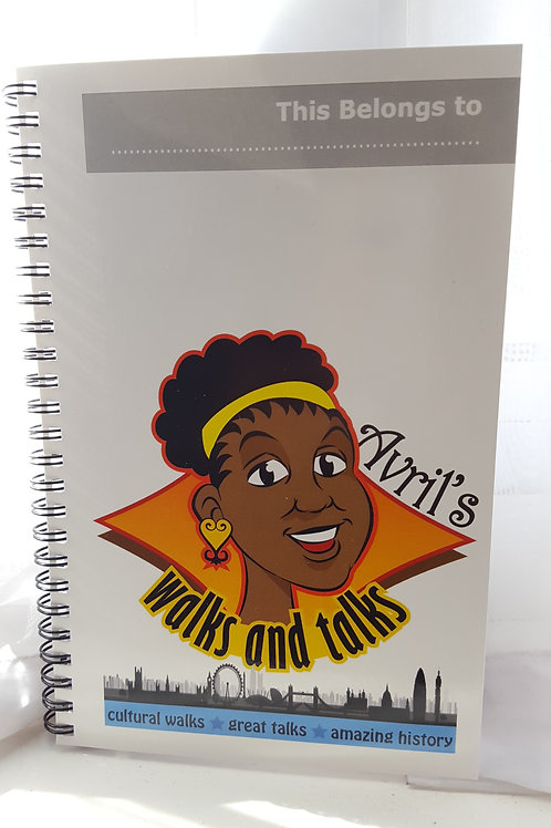 Avril's Walks and Talks Notebook