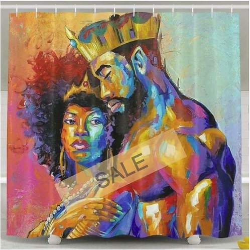 African Lovers Shower Curtain
