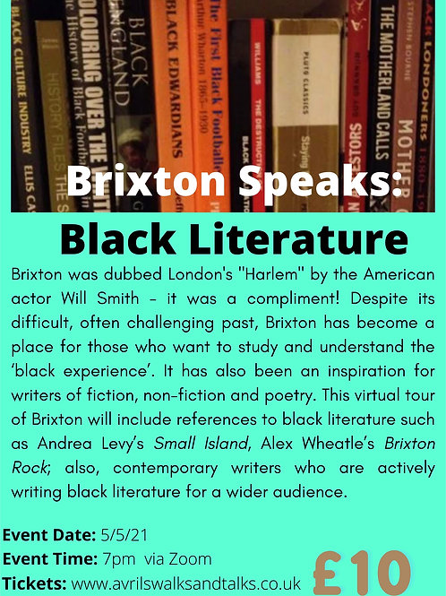 Brixton Speaks… Black Literature