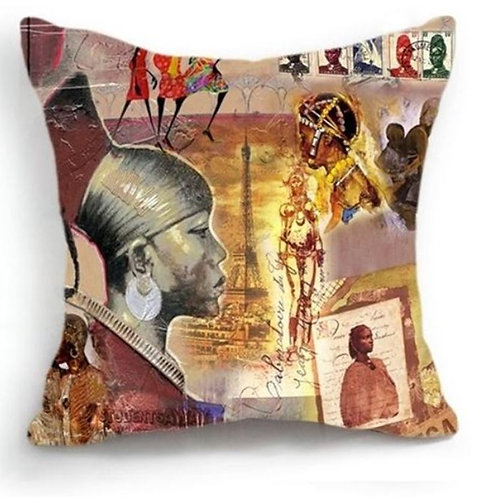 African Scenery Cushion Cover