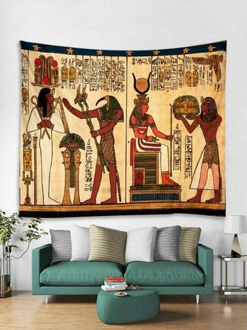 Ancient Egypt Printed Tapestry Wall Hanging or Bedspread
