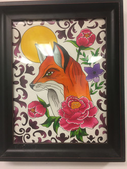Fox Watercolor by Mandy