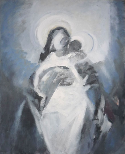 Ruizanglada - Virgen con Niño 100x81