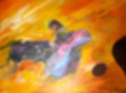 Ruizanglada - Toreros 85x45 1996 acrílico sobre tabla.