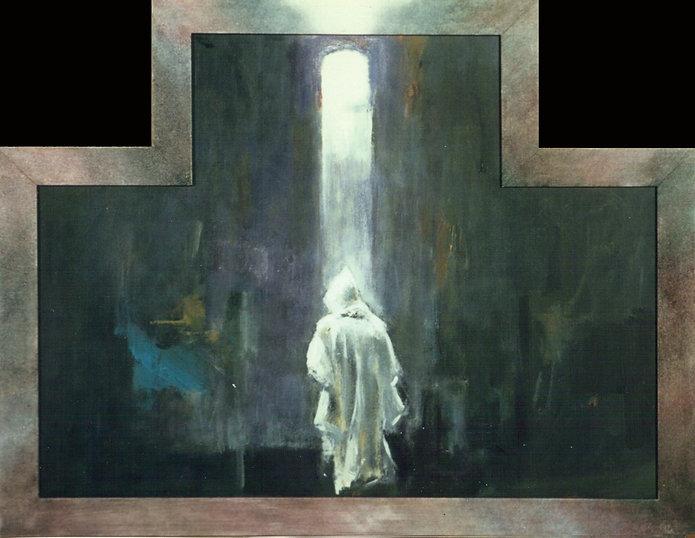 Ruizanglada - Luz en soledad 57x71 1996 Acrílico sobre tabla