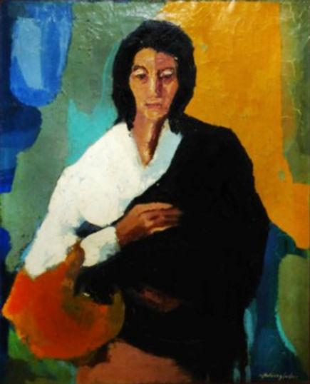 Ruizanglada - Mujer gitana 91x72cm óleo sobre lienzo NXXX218