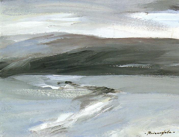 Ruizanglada - Paisaje en grises Contraluz 35x27 1999