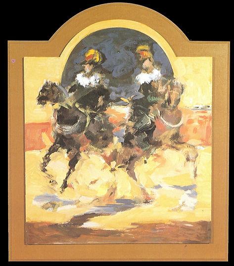 Ruizanglada - Alguacilillos 70x60 Acrílico sobre tabla.