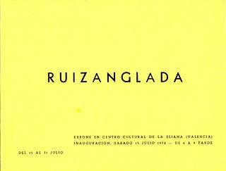 Ruizanglada Catálogo - 1972 Centro Cultural La Eliana Valencia, España