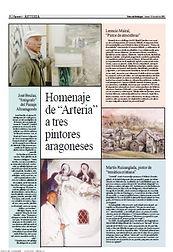 Prensa 2004 04 22 Diario del Alto Aragón Hemeroteca - Ruizanglada pintor de temática cristiana Homenaje a Ruizanglada