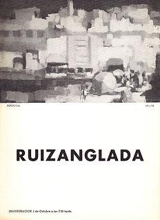 Ruizanglada Catálogo - 1968 Galeria N Art Zaragoza, España