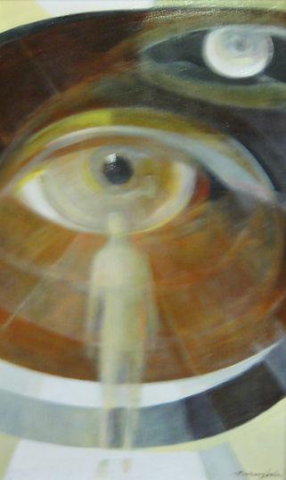 Ruizanglada - Figura Titulo desconocido 43x80 Oleo sobre tabla